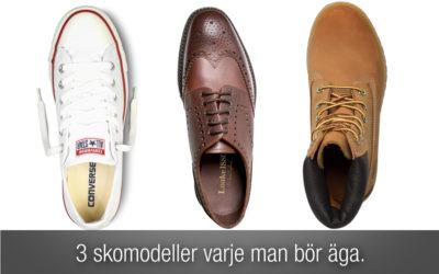 3 skomodeller varje man bör äga.