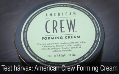 Test hårvax för män: American Crew Forming Cream.