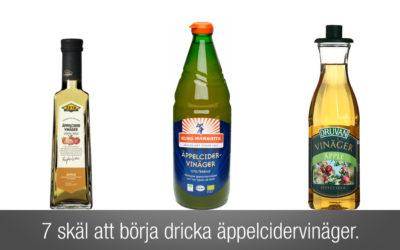 Äppelcidervinäger är bra för dig. 7 skäl att börja dricka äppelcidervinäger.