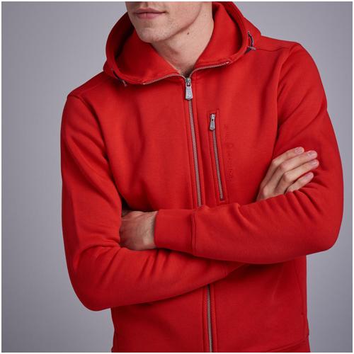 Snygga hoodies herr röd Sail Racing