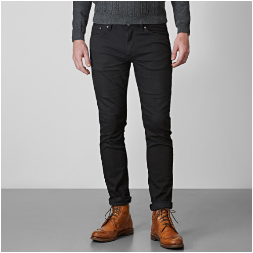 Höstkläder Herr Svarta Jeans