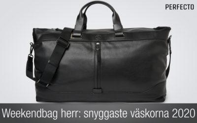 Weekendbag herr: Snygga weekendväskor för 2020!