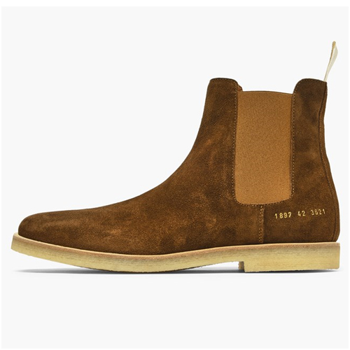 Chelsea boots herr mocka common projects