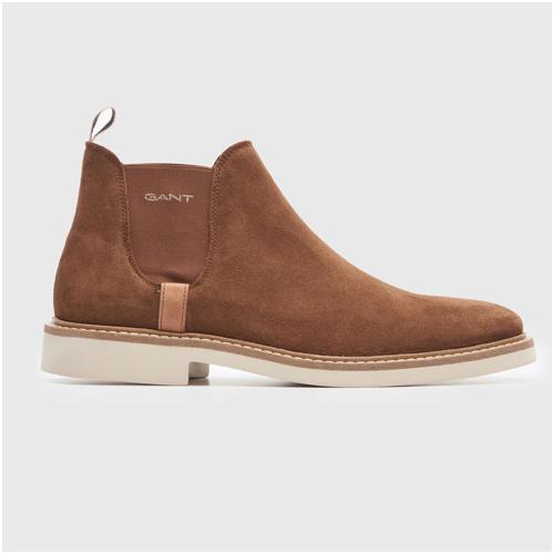 Chelsea boots herr mocka konjak Gant