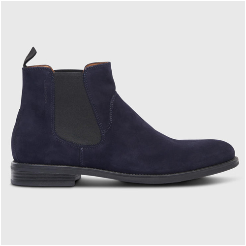 Chelsea Boots herr blå mocka Vagabond
