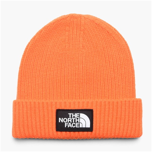 Herrmode trend orange beanie the north face