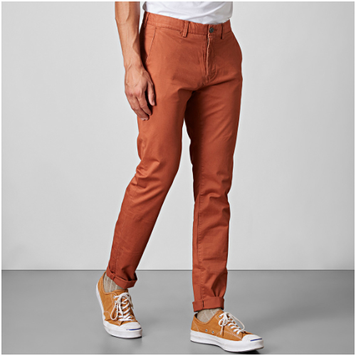 Herrmode trend orange chinos east west