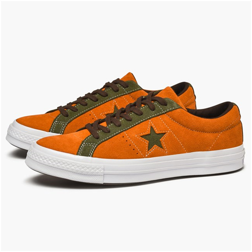Herrmode trend orange sneakers converse One Star Ox