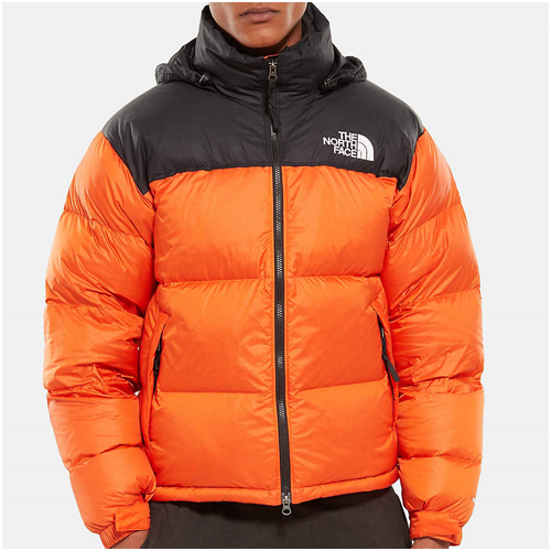 Herrmode trend orange the north face jacka