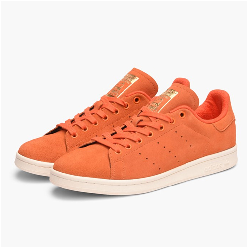 Herrmode trend orange sneakers adidas stan smith