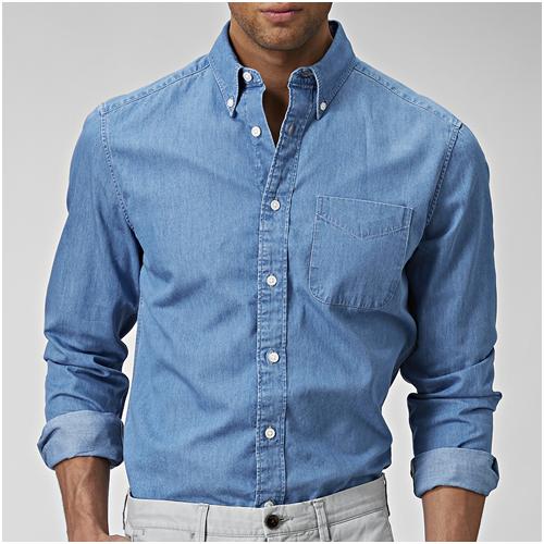 Sju sjukt snygga jeansskjortor (herr) - hitta en snygg jeansskjorta här! e916510167e71