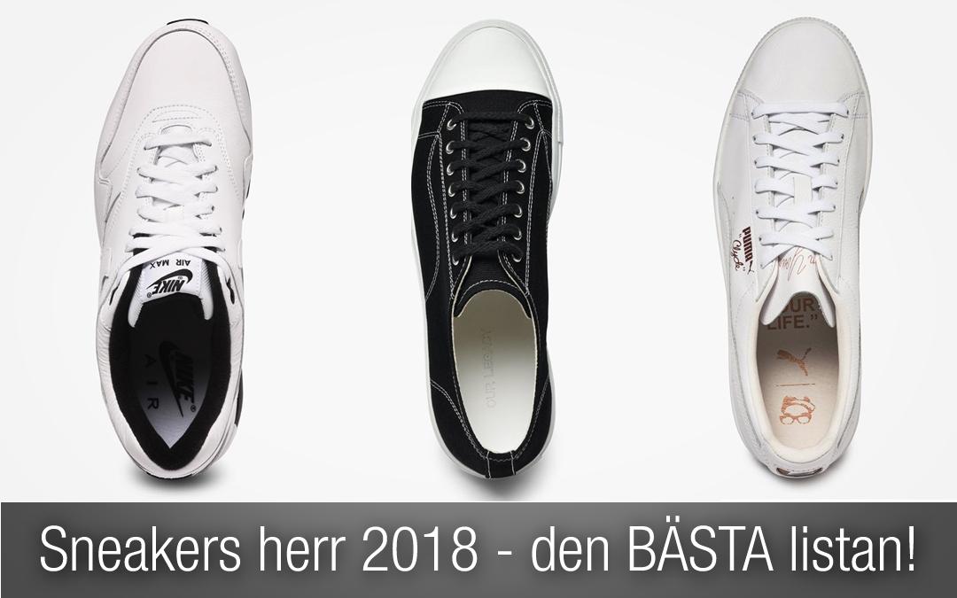 Sneakers herr 2018 – den BÄSTA listan på SNYGGA sneakers!