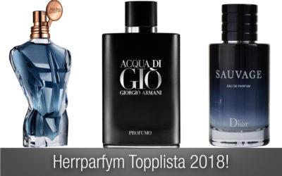 Herrparfym topplista 2018 – de bästa herrparfymer som finns just nu!