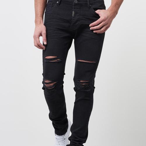 svarta jeans men