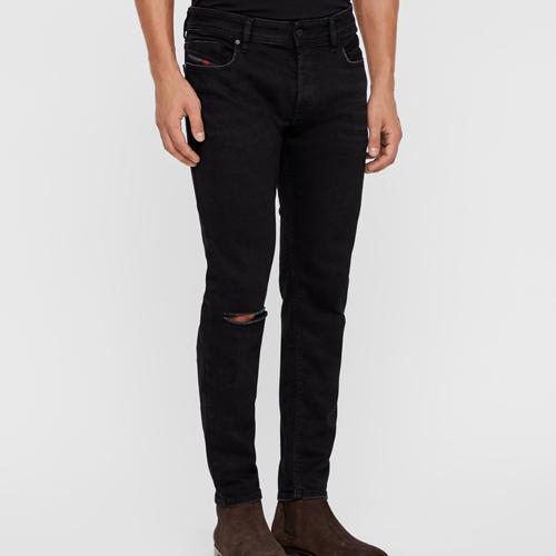 svarta slitna jeans herr Diesel