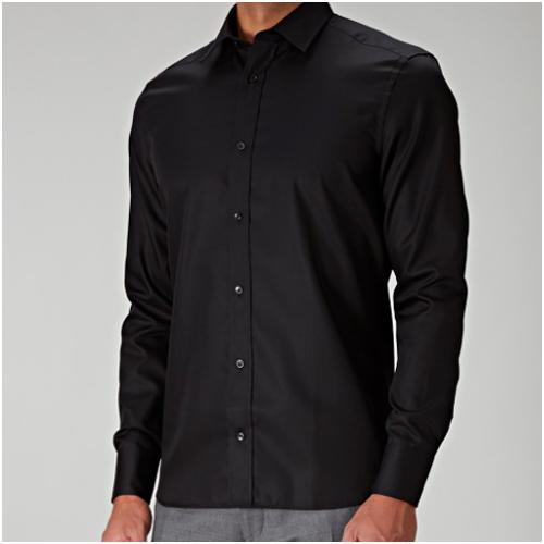 nyårskläder herr - snygg svart skjorta