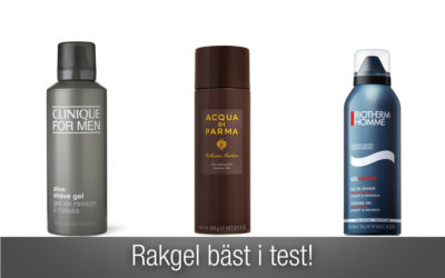 Rakgel bäst i test – den bästa listan på rakgel för män!