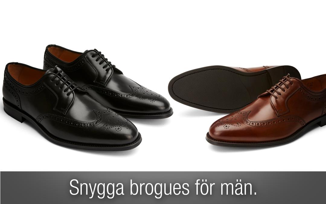 Brogues. Snygga brogue skor för män
