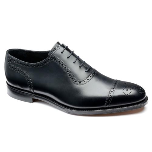 Svarta brogue skor herr Loake