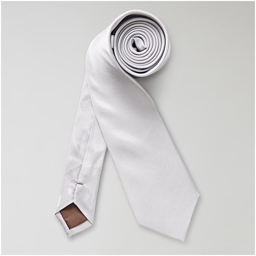 Ljusgrå slips till mörkblå kostym