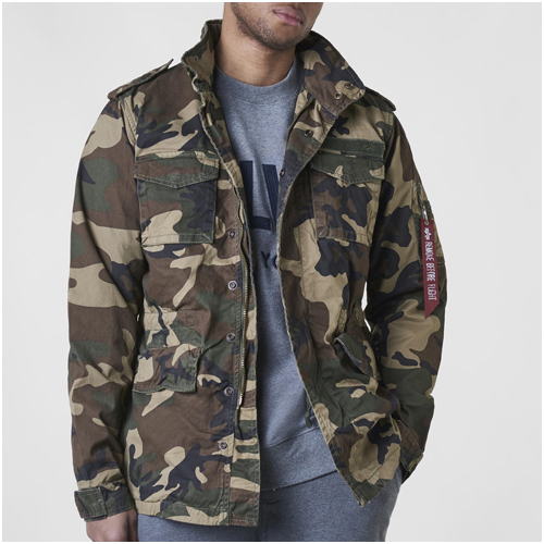 Camouflage jacka herr Alpha Industries