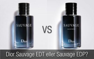 Dior Sauvage EDT eller Dior Sauvage EDP? Vilken herrparfym är bäst?
