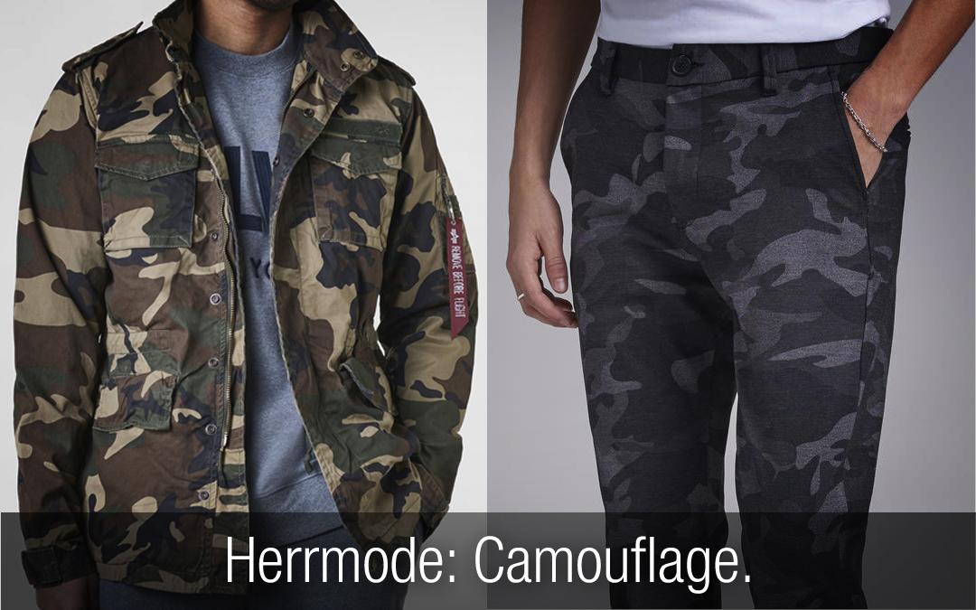 Herrmode: Camouflage – snygga kläder för dig som gillar camo!