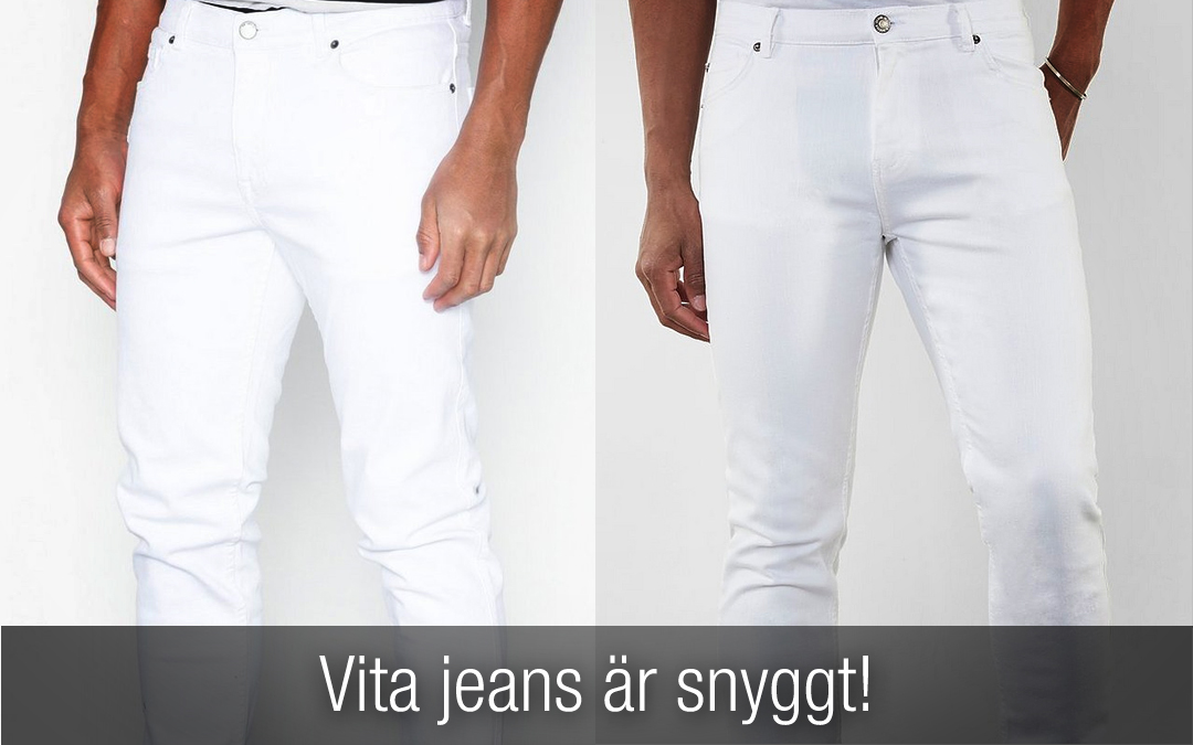 Vita Jeans för killar är snyggt! Din guide till vita jeans.