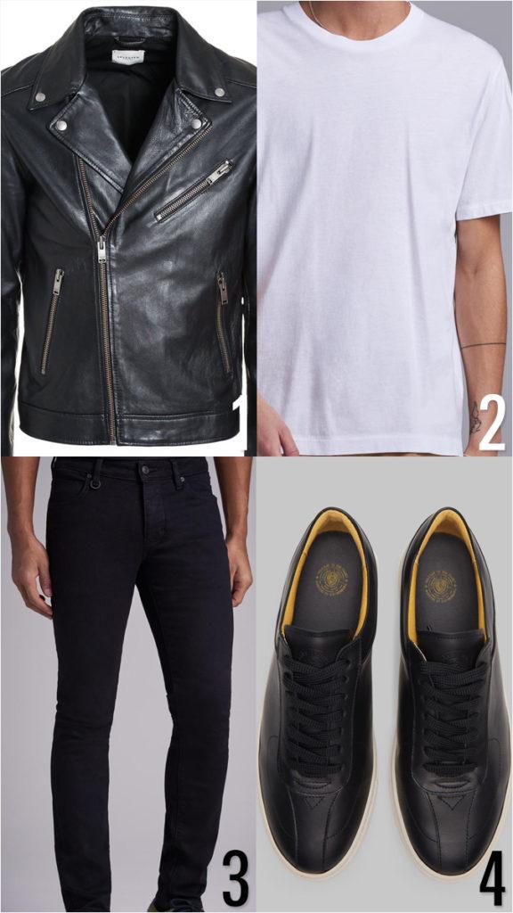 00c4c572db8a Monokrom klädstil för män: snygga outfits med svarta och vita kläder!
