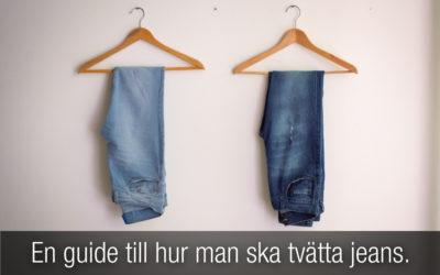 Jeans: En guide till hur man ska tvätta jeans.