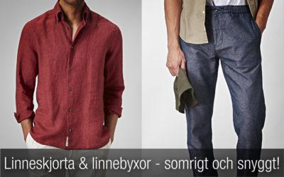 Linneskjorta och linnebyxor (herr) – sommarens självklara plagg!