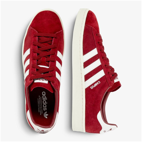 Röda mocka sneakers herr Adidas