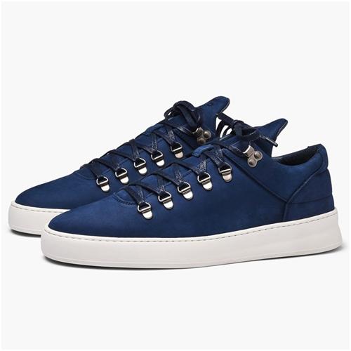 Marinblå mocka sneakers herr från Filling Pieces