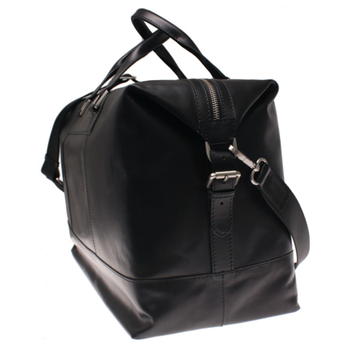 Weekendbag skinn svart herr Saddler