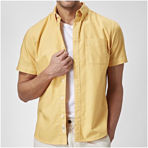 gul sommarskjorta herr