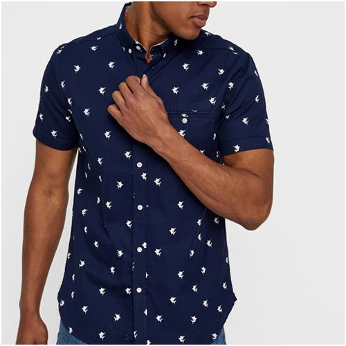 Sommarskjorta kortärmad Superdry