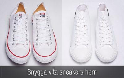 Vita sneakers herr. Snygga sneakers för varje plånbok och stil!