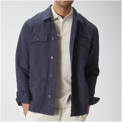 Skjortjacka linne herr