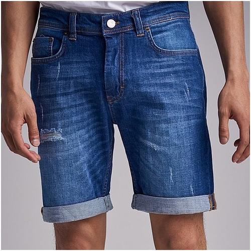 slitna jeans shorts herr