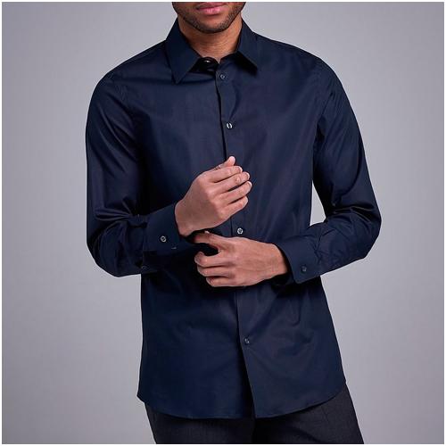 Marinblå skjorta herr