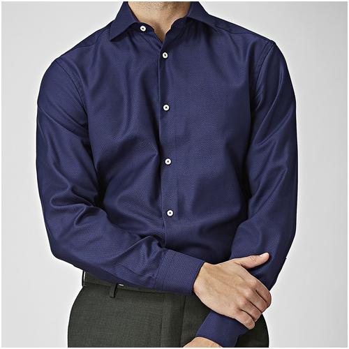 Snygg skjorta herr Mörkblå