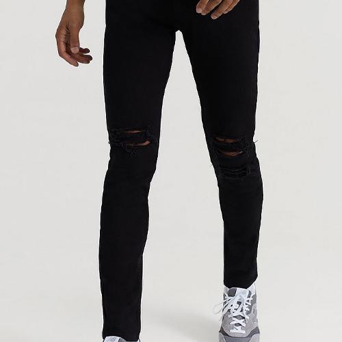 Slitna svarta jeans