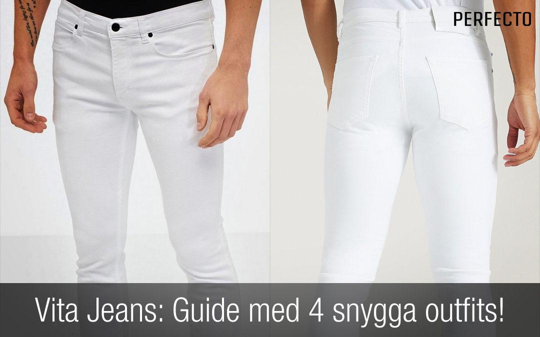 Vita Jeans för killar är snyggt! Guide till vita jeans och fyra snygga outfits!