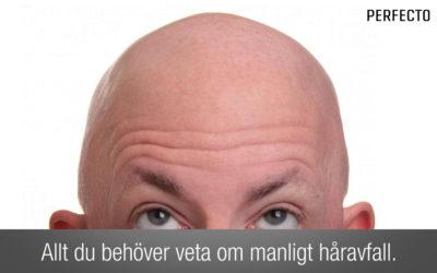 Manligt håravfall – varför man tappar hår och hur man kan behandla håravfall.