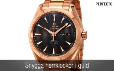 Guldklocka herr – 11 snygga klockor i guld!