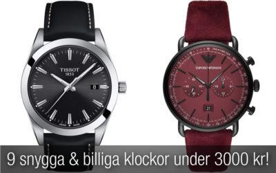 9 snygga & billiga klockor herr UNDER 3000 kr som du måste kolla in!