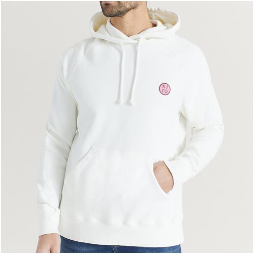 vit hoodie herr