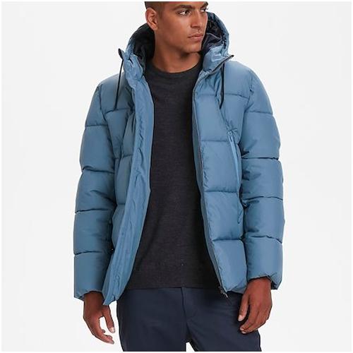 blå jacka herr