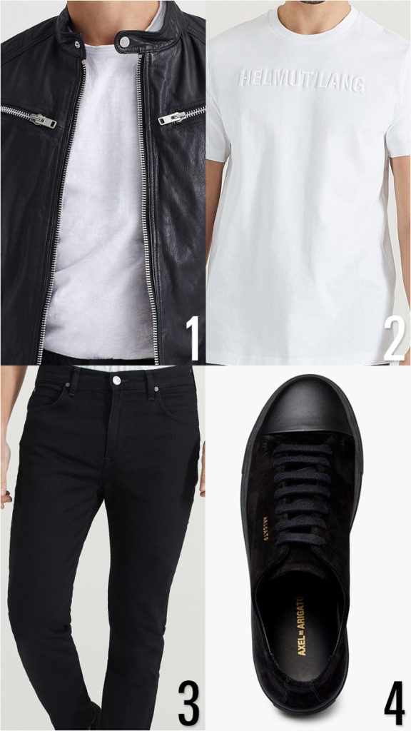 Monokrom klädstil för män: snygga outfits med svarta och