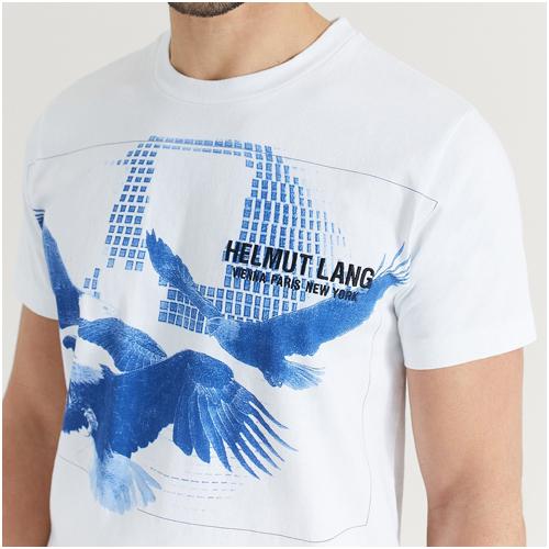 T-shirt med tryck herr
